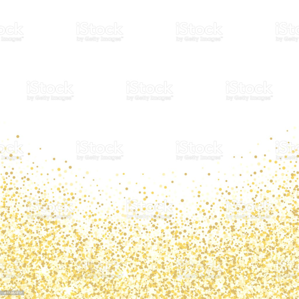 Gold glitter bright vector transparent background golden sparkles - Gold Glitter Texture Golden Shiny Sparkles On White Background Royalty Free Stock Vector