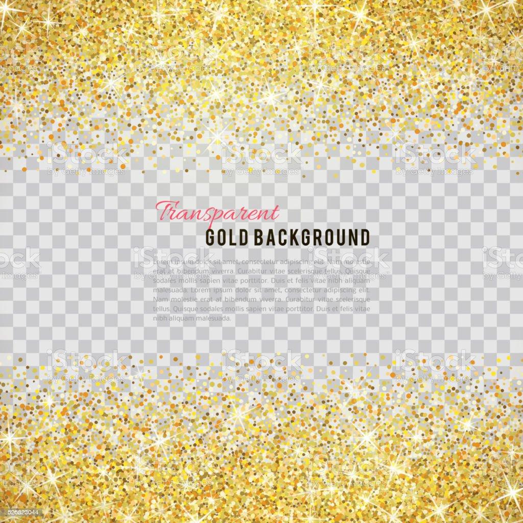 Gold glitter texture with sparkles vector art illustration