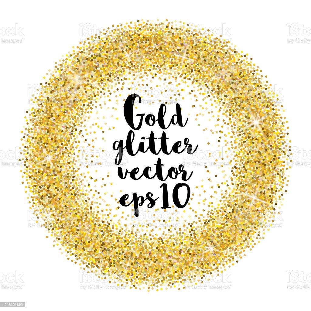 Gold glitter vector background vector art illustration
