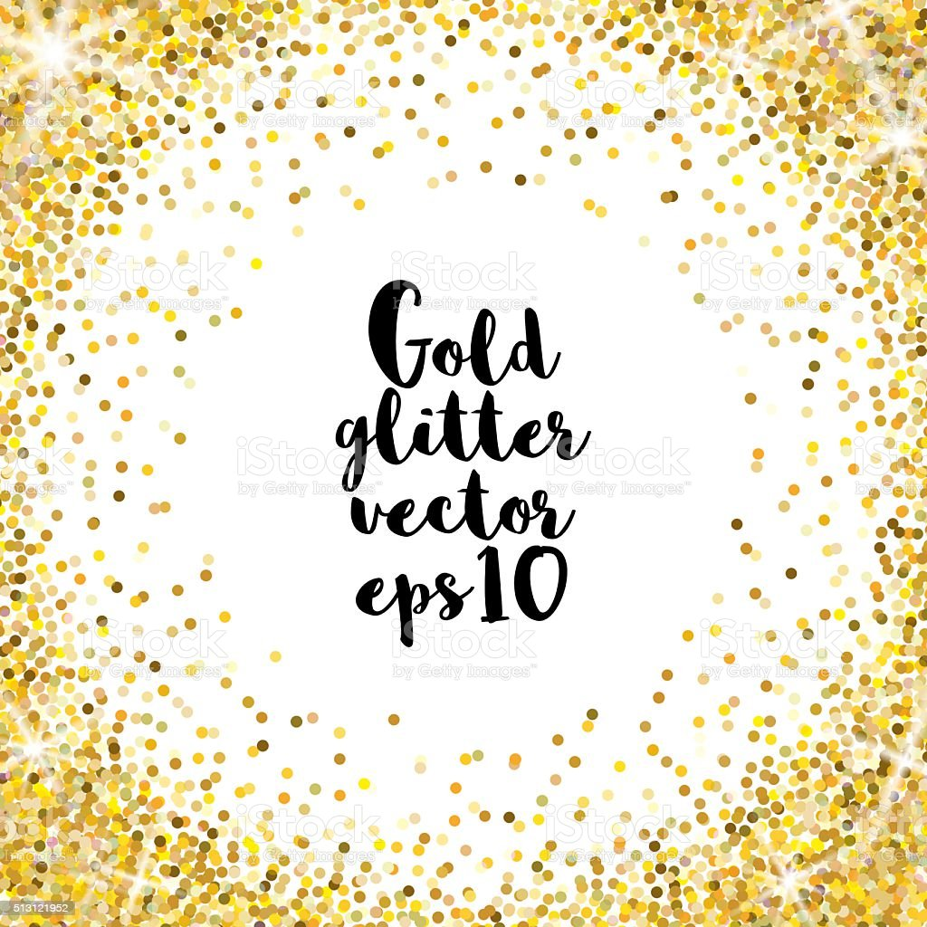 Gold glitter vector background royalty-free stock vector art