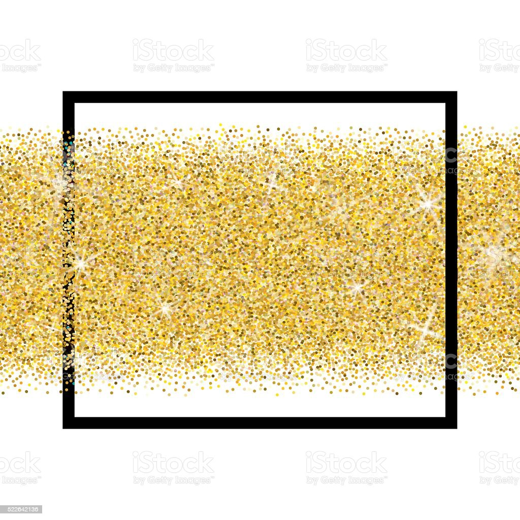 Gold glitter vector background vector art illustration