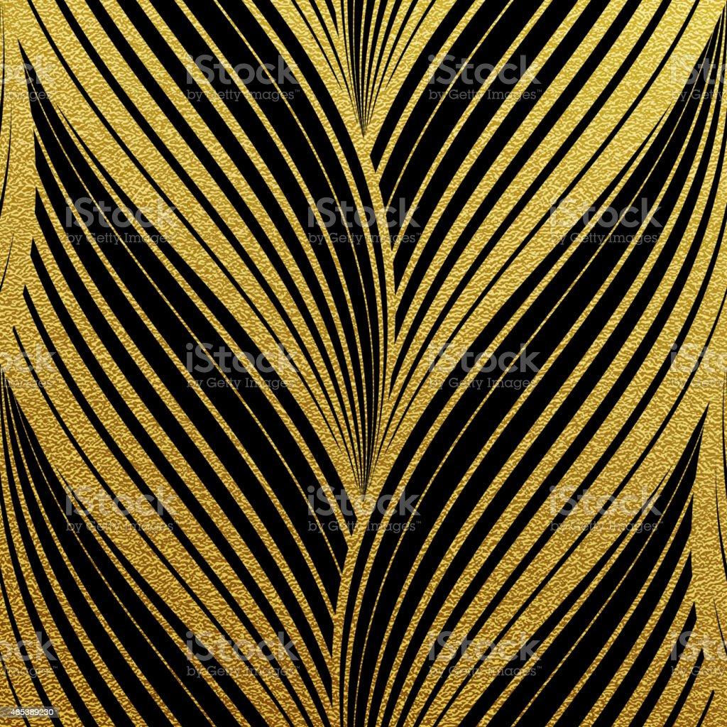 Gold glittering abstract waves pattern vector art illustration