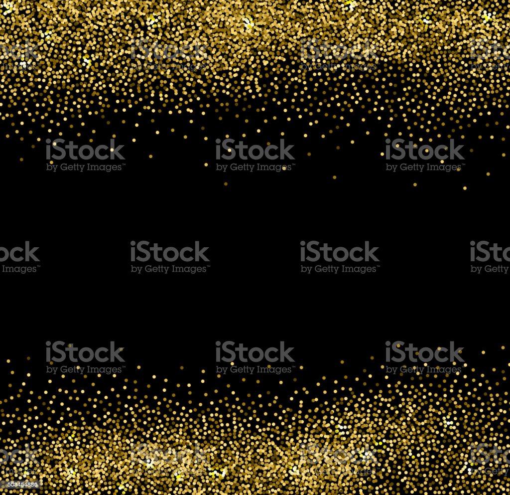 Gold glittering background vector art illustration