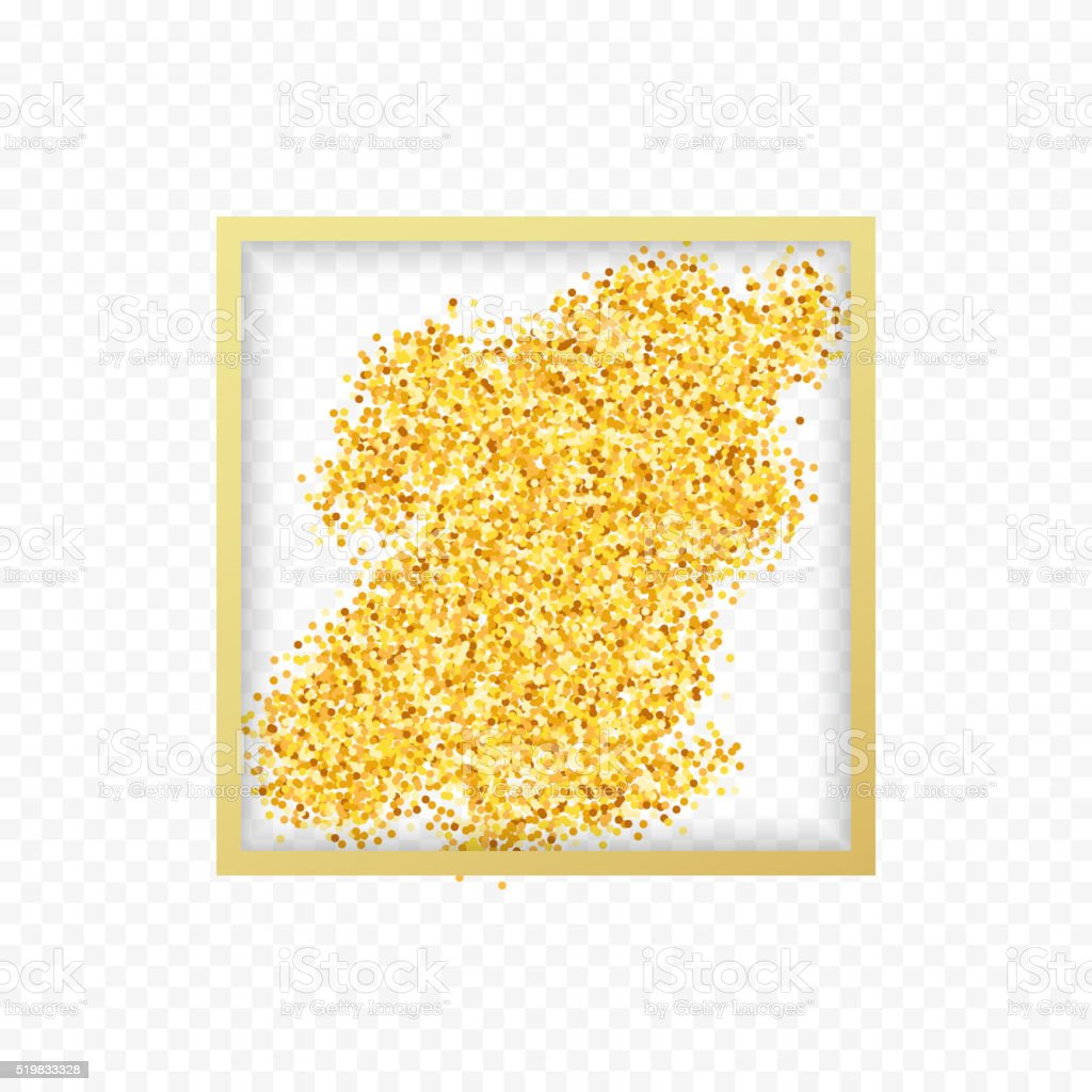 Gold placer . Gold in the frame. Gold glitters . Metal gold. Gold...