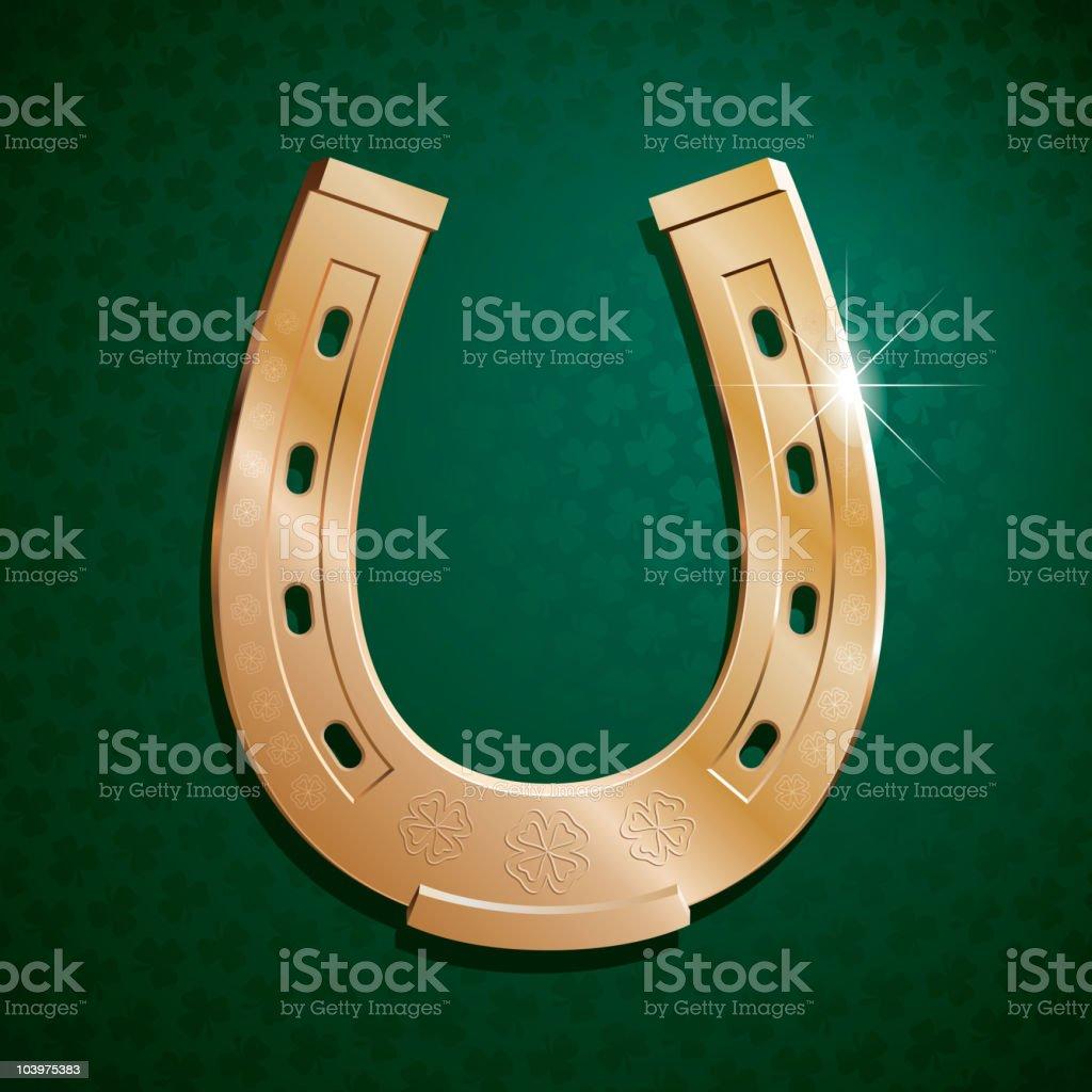 Gold horseshoe royalty-free stock vector art