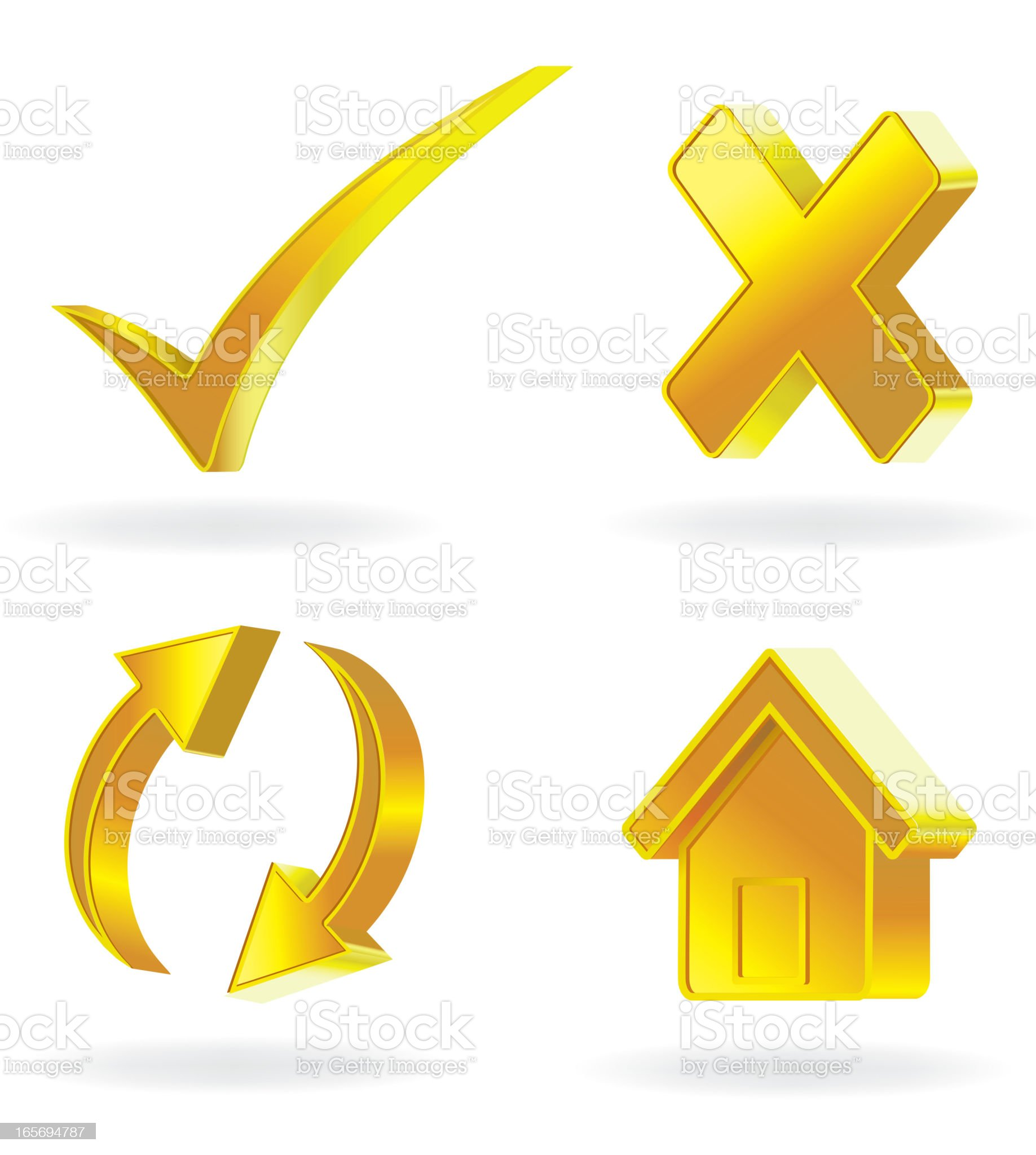 Gold Icon royalty-free stock vector art