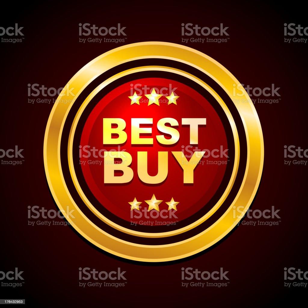 Gold Label Best Buy Vector royalty-free stock vector art