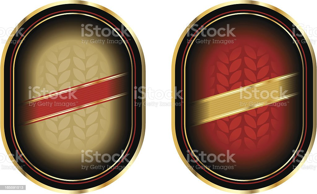 gold label royalty-free stock vector art