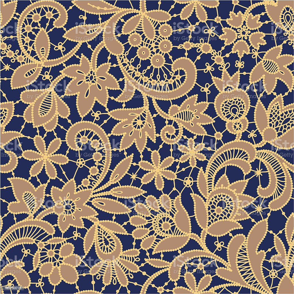 Gold Lace Seamless Pattern. royalty-free stock vector art