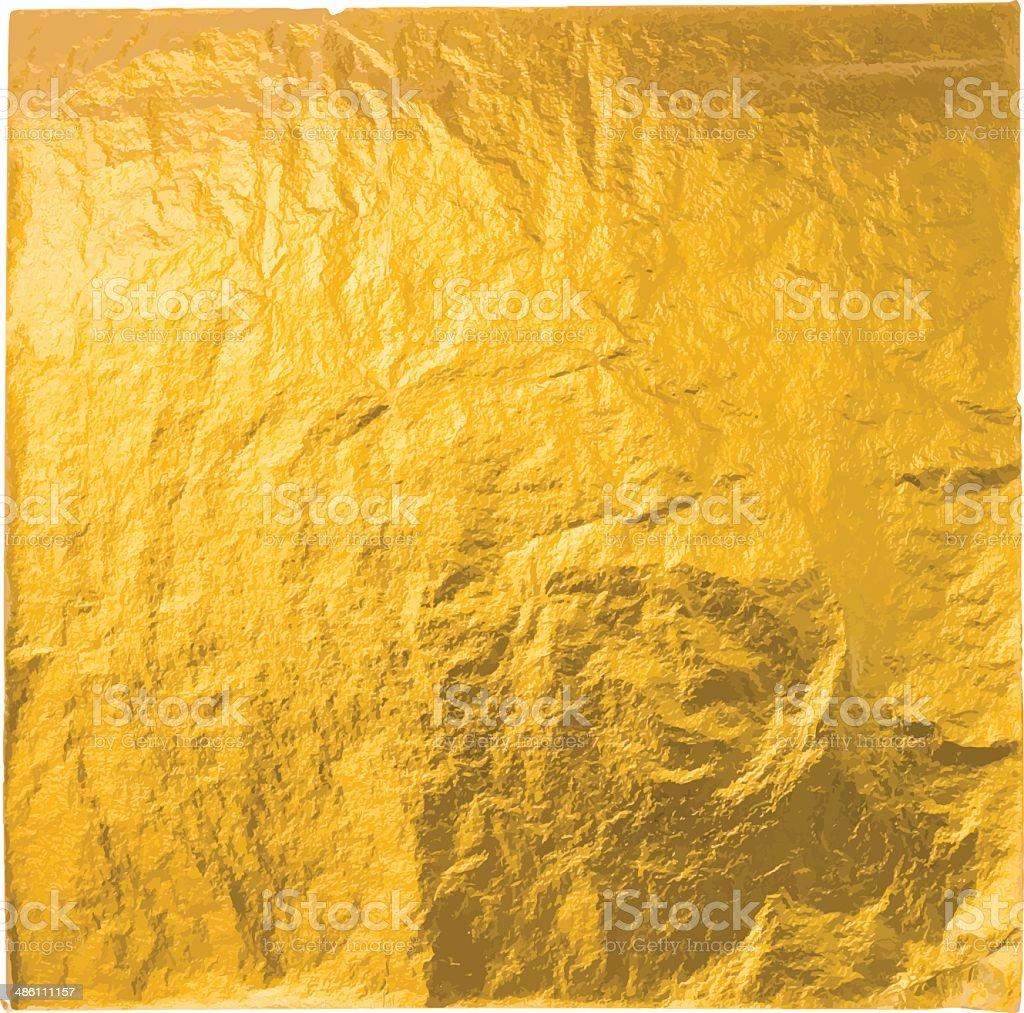 gold leaf vector art illustration