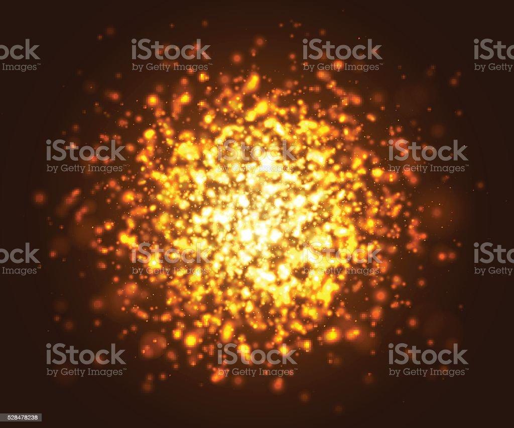reflejo de luz oro csmico resplandece efectos de iluminacin partculas que resplandece