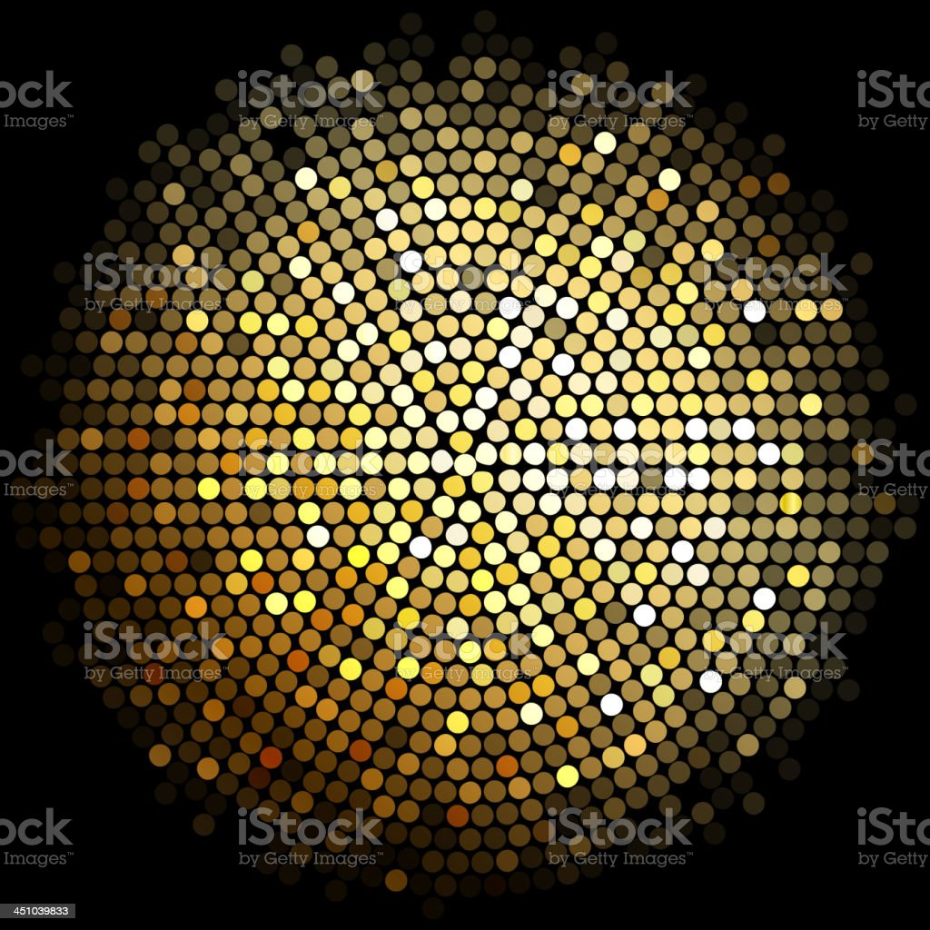 Gold lights ball vector art illustration