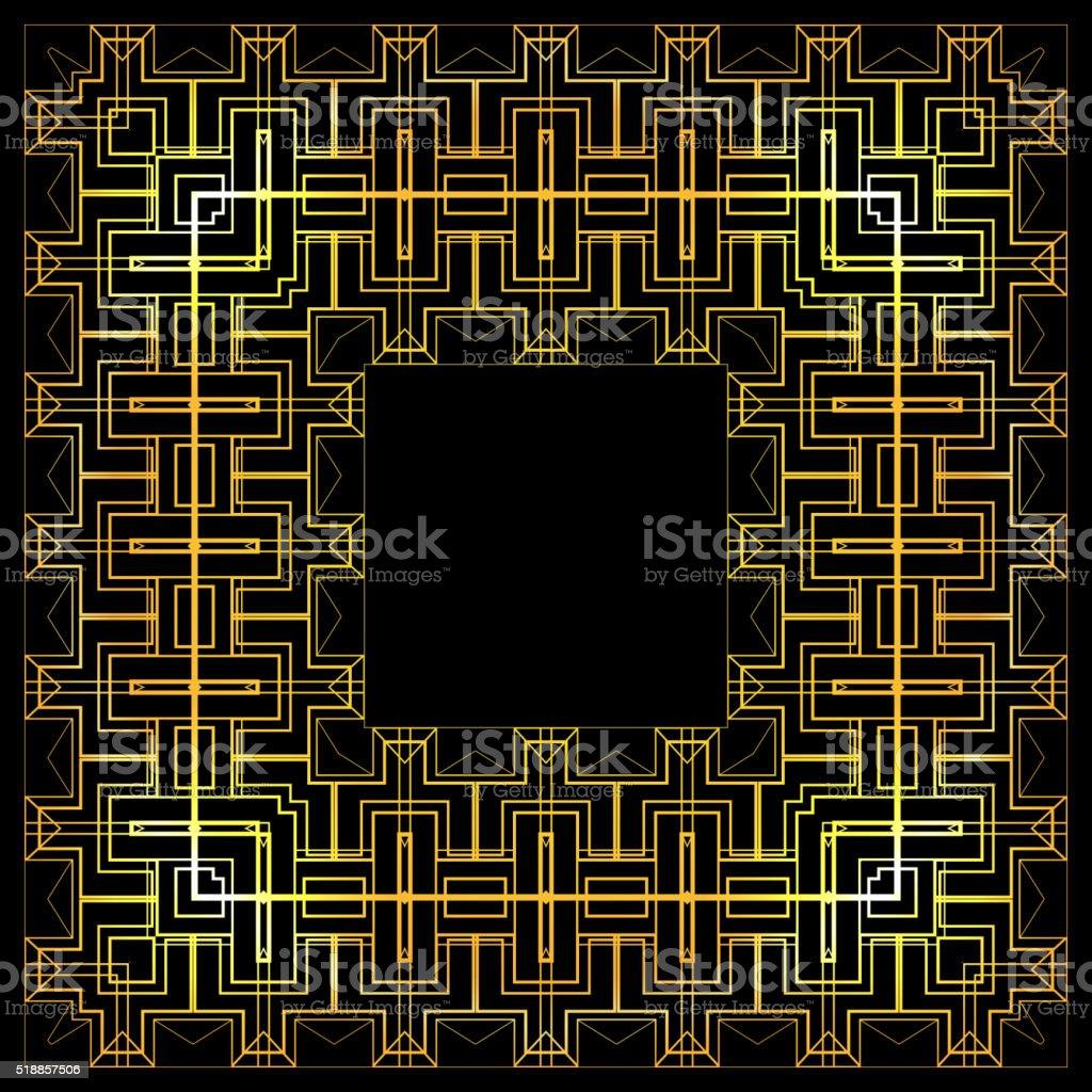 Gold luxury frame. vector art illustration