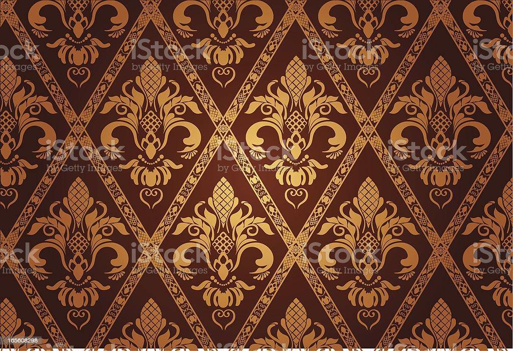 Gold Luxury Pattern royalty-free stock vector art