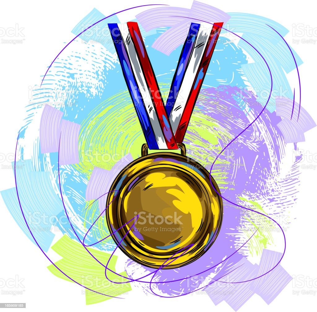 Gold Medal royalty-free stock vector art