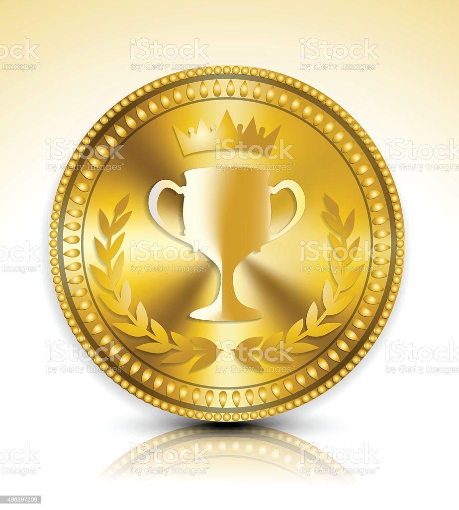 Médaille d'or stock vecteur libres de droits libre de droits