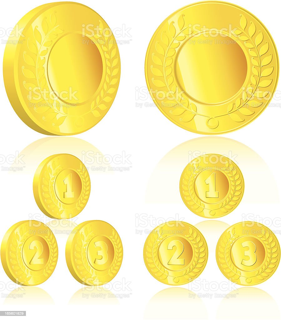 Gold Medallions. royalty-free stock vector art