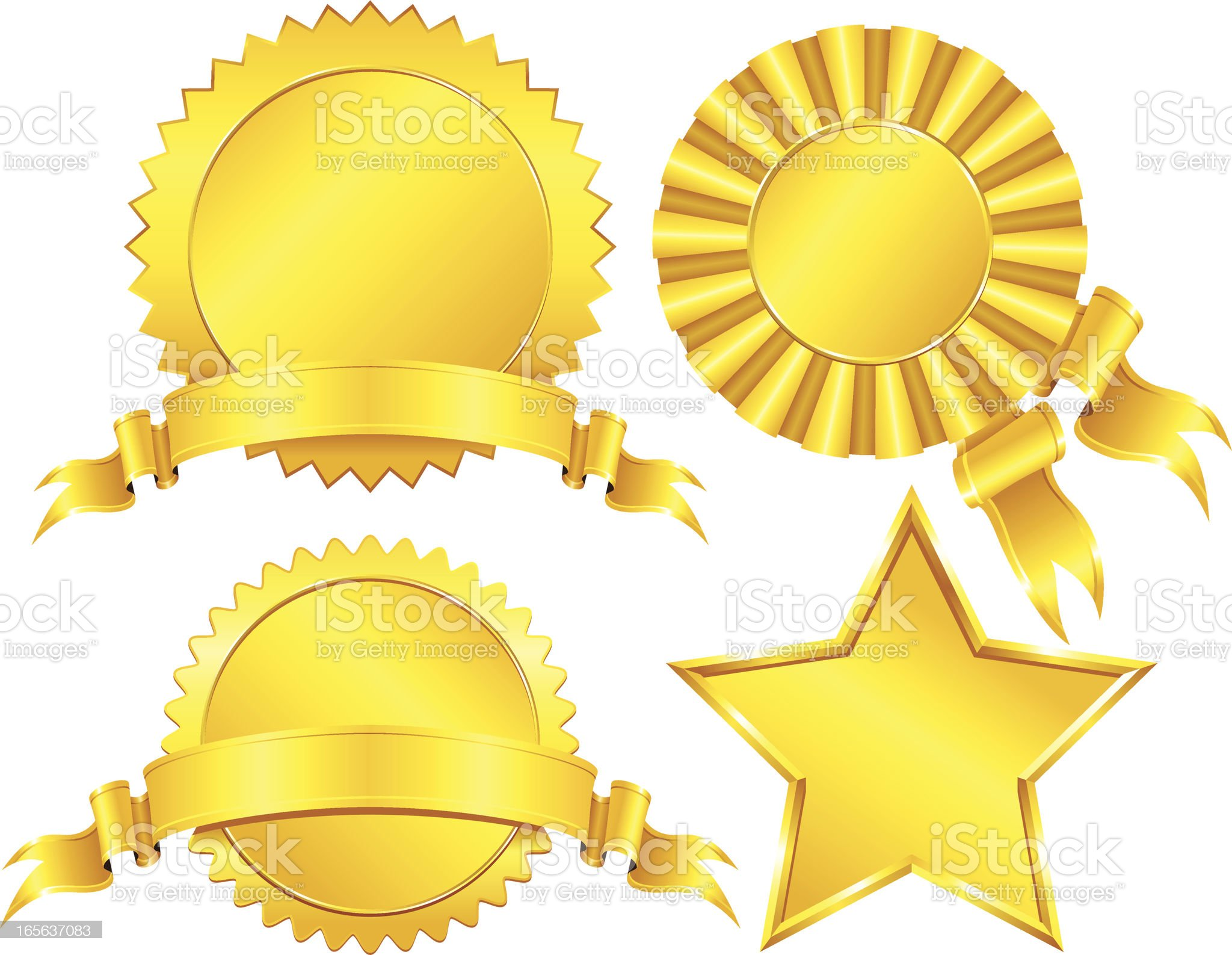 Gold Medals royalty-free stock vector art