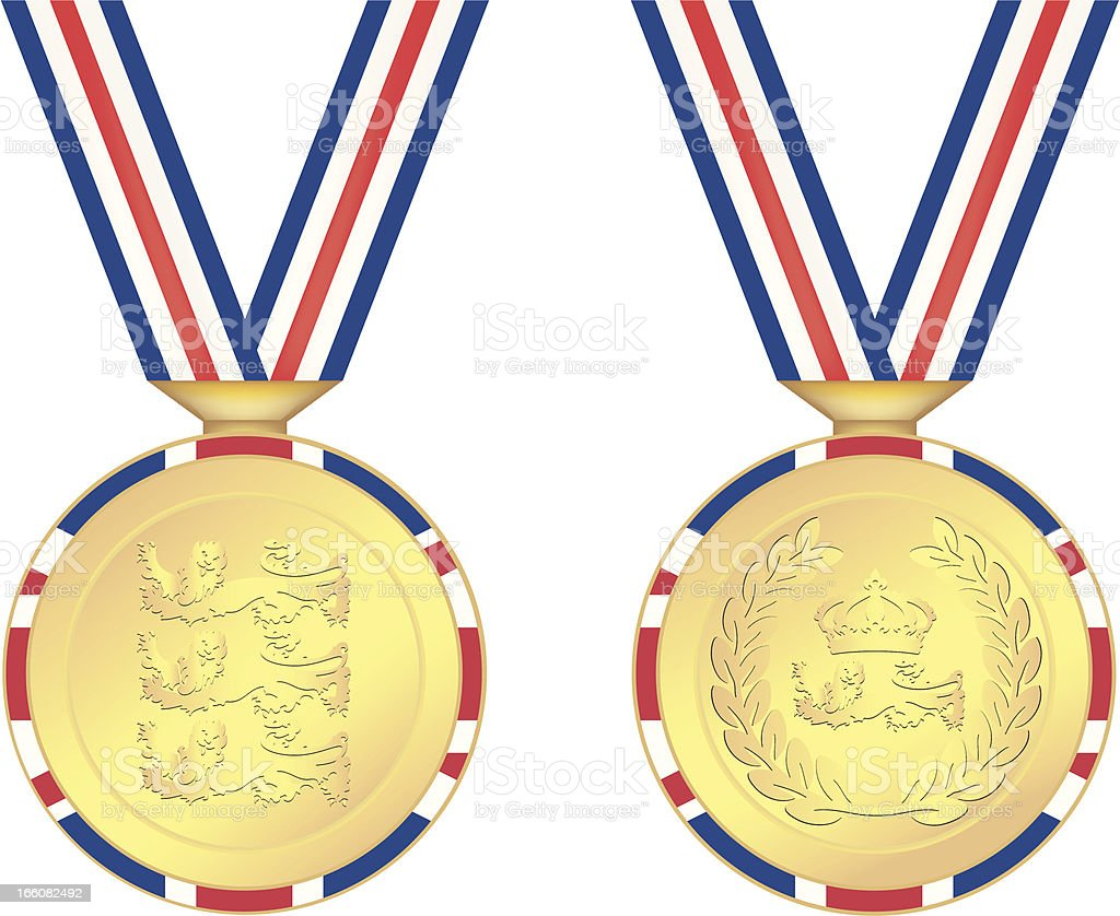 UK Olympic Gold Medals royalty-free stock vector art