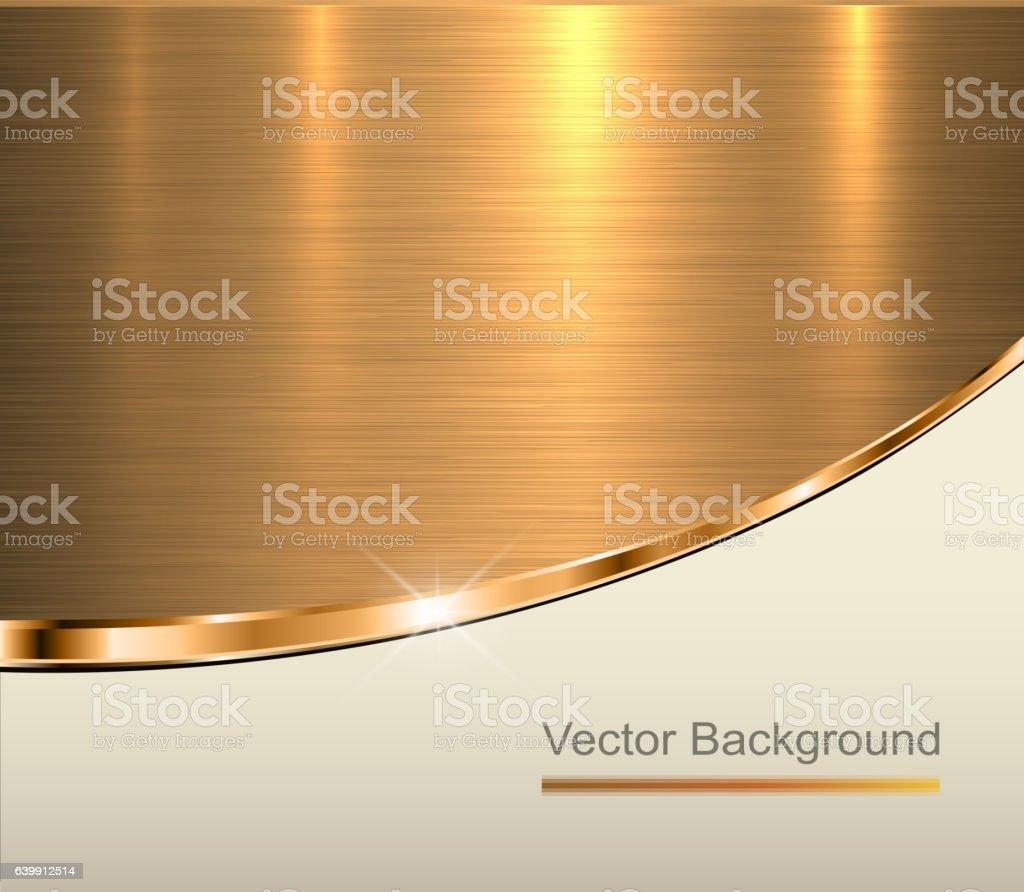 Gold metal background vector art illustration