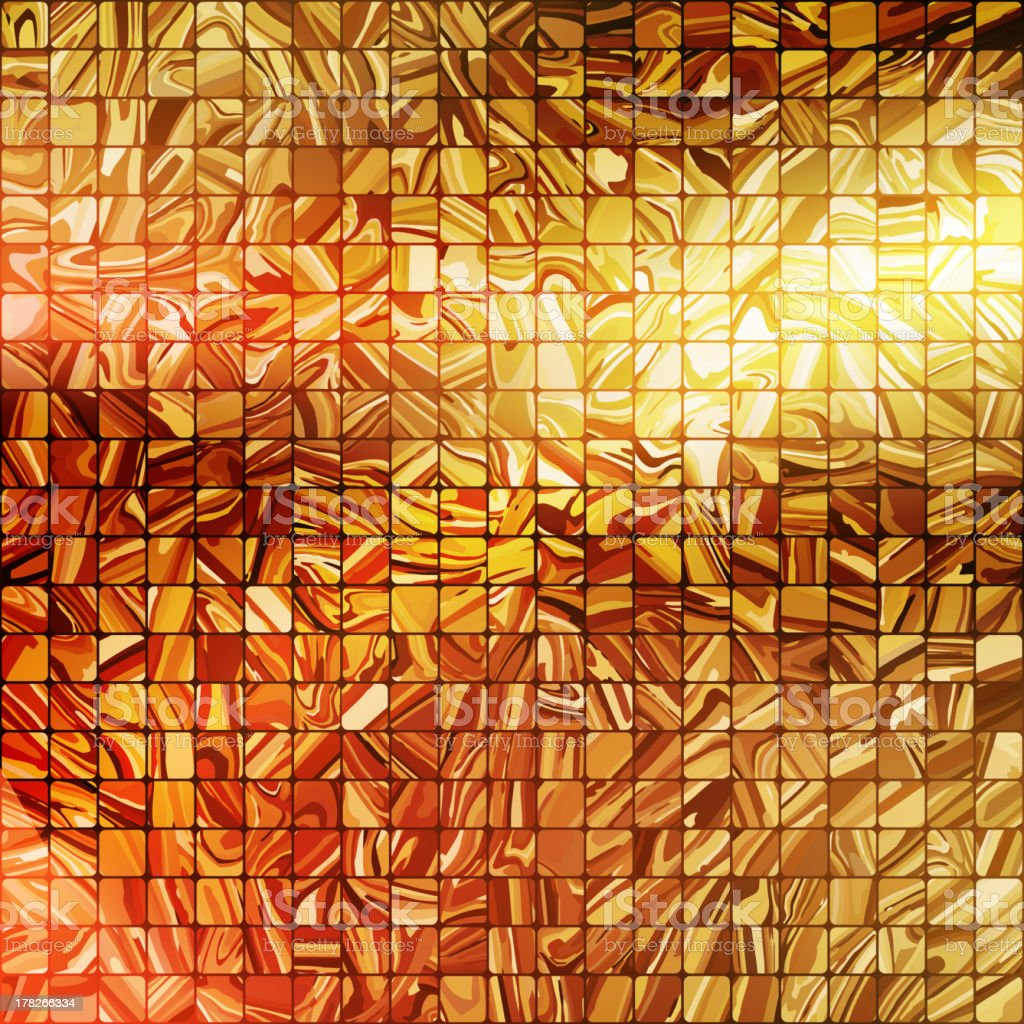 Gold mosaic background. EPS 10 royalty-free stock vector art