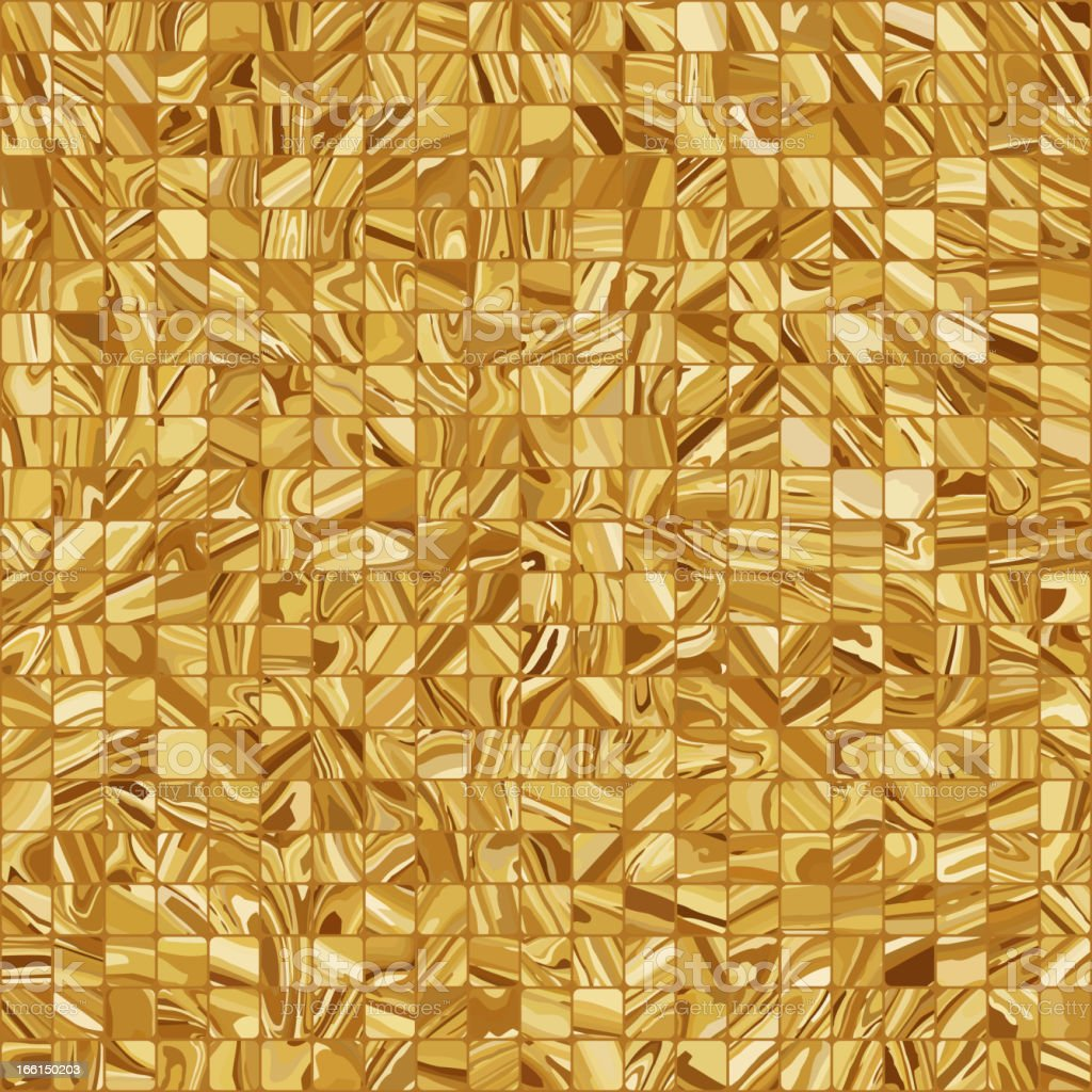 Gold mosaic background. EPS 8 royalty-free stock vector art