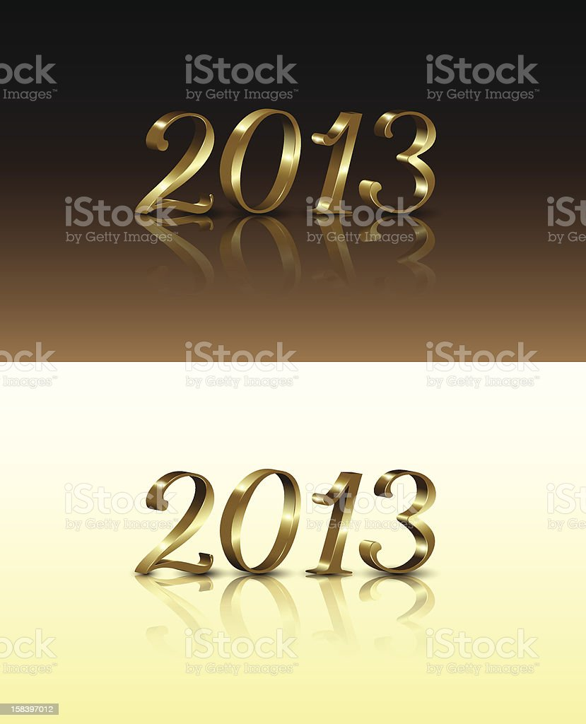 Gold New Year Numbers stock photo