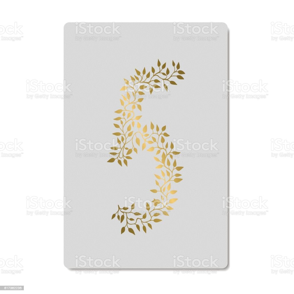 Gold numbers vector art illustration