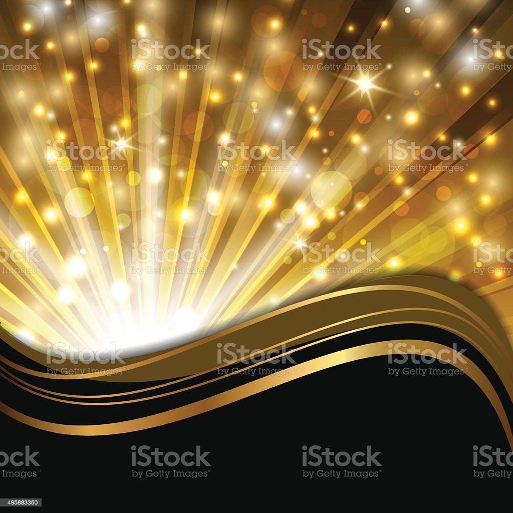 gold on black vector art illustration