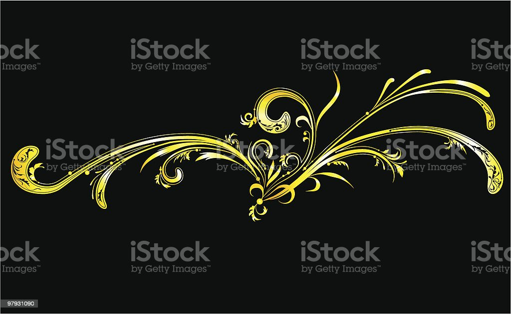 Gold ornament royalty-free stock vector art