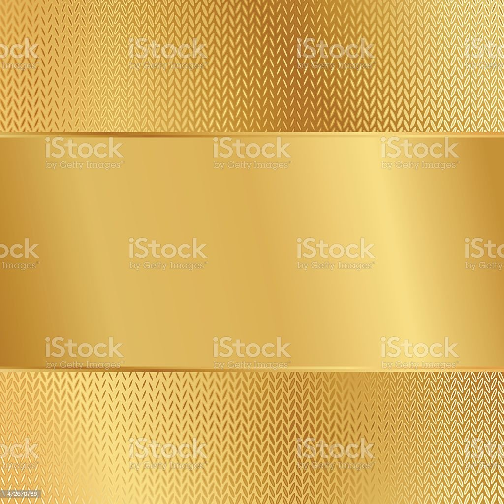 A gold paper on a gold background vector art illustration