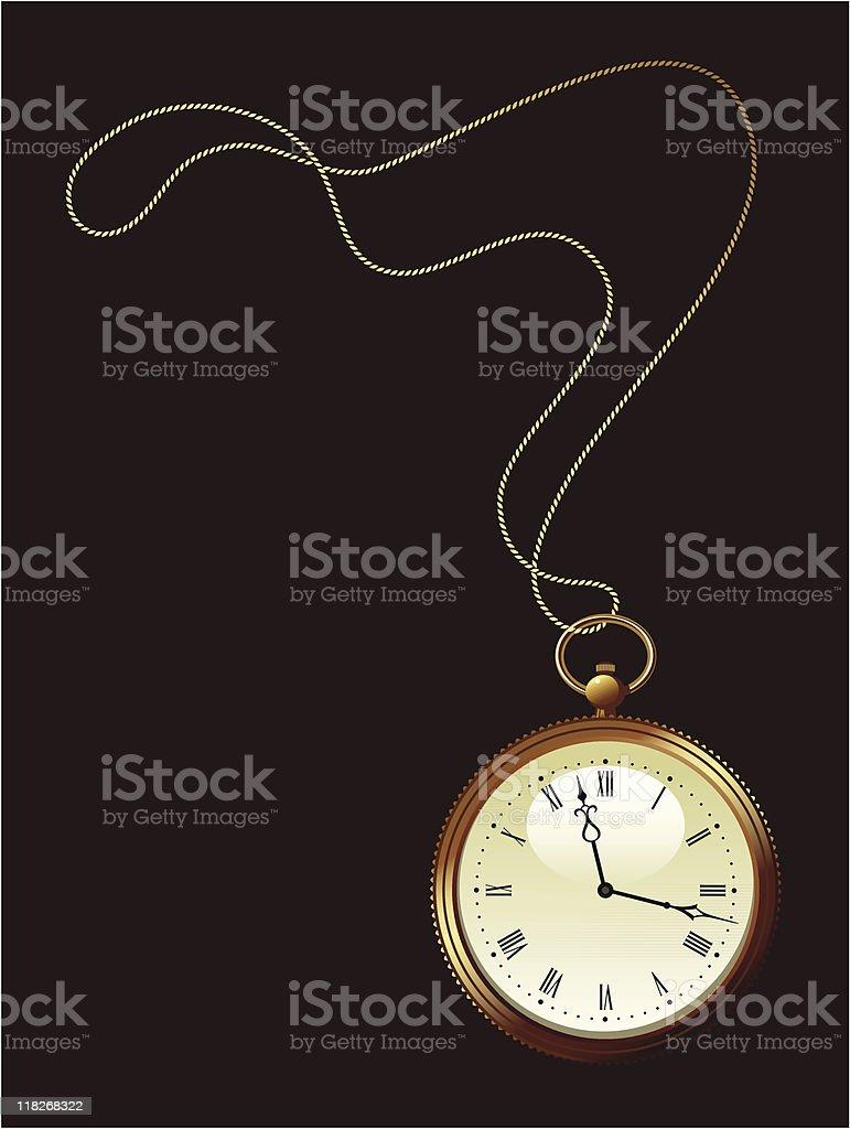 gold pocket watch royalty-free stock vector art