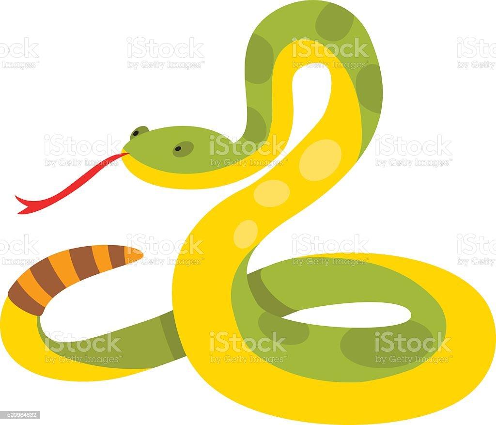 Gold python reticulated albino boa constrictor wildlife nature snake vector vector art illustration