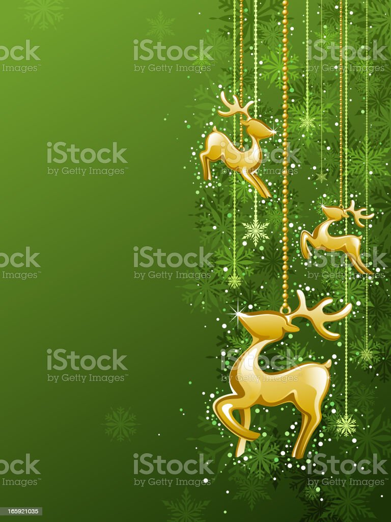 Gold Reindeer Background royalty-free stock vector art