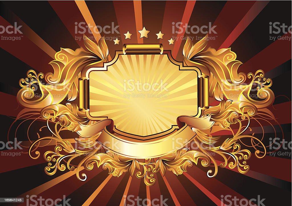 Gold Retro royalty-free stock vector art