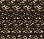 gold rice seamless pattern. festive metal textured ornament.