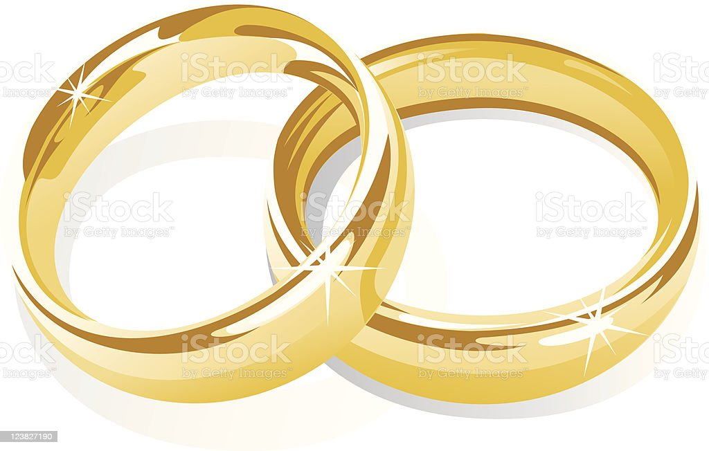 gold rings royalty-free stock vector art