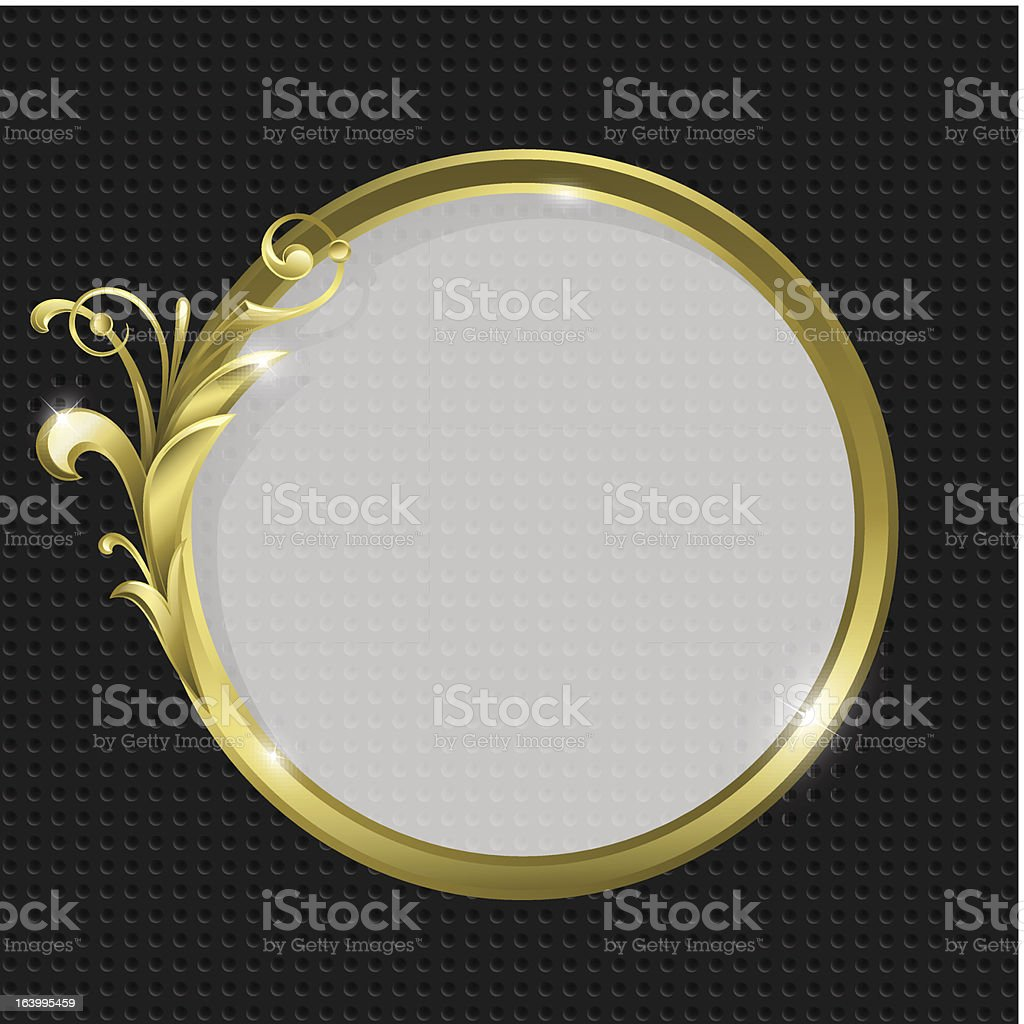 Gold round frame royalty-free stock vector art