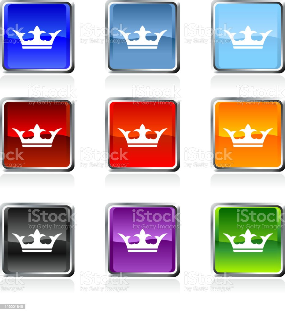 gold royal crown royalty free vector art in nine colors royalty-free stock vector art
