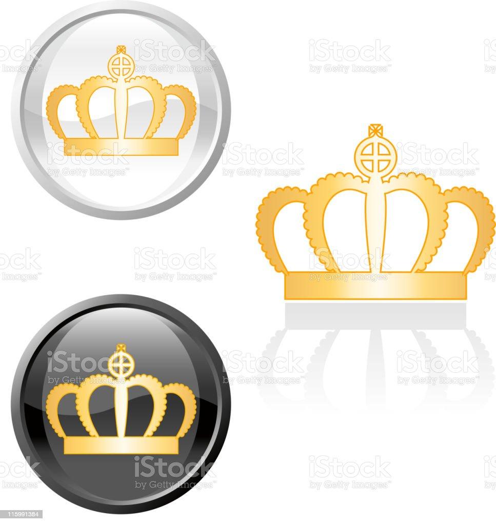 gold royal crown royalty free vector art royalty-free stock vector art
