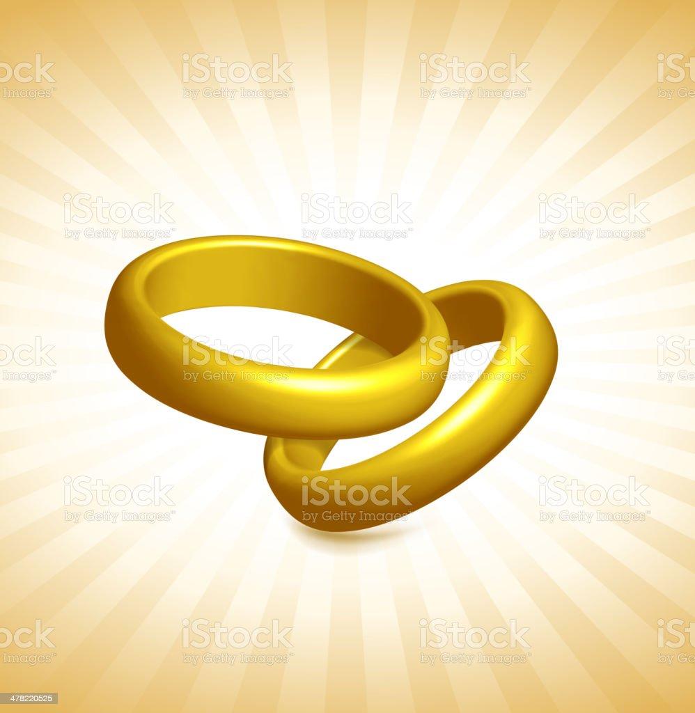 Gold royalty free vector Rings vector art illustration