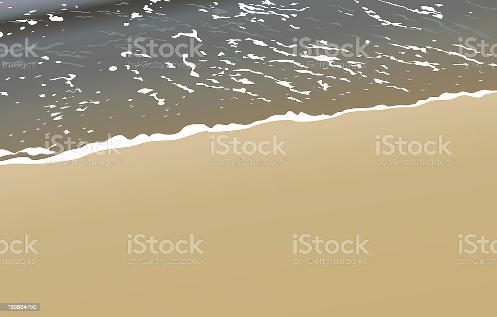 Gold sand vector art illustration