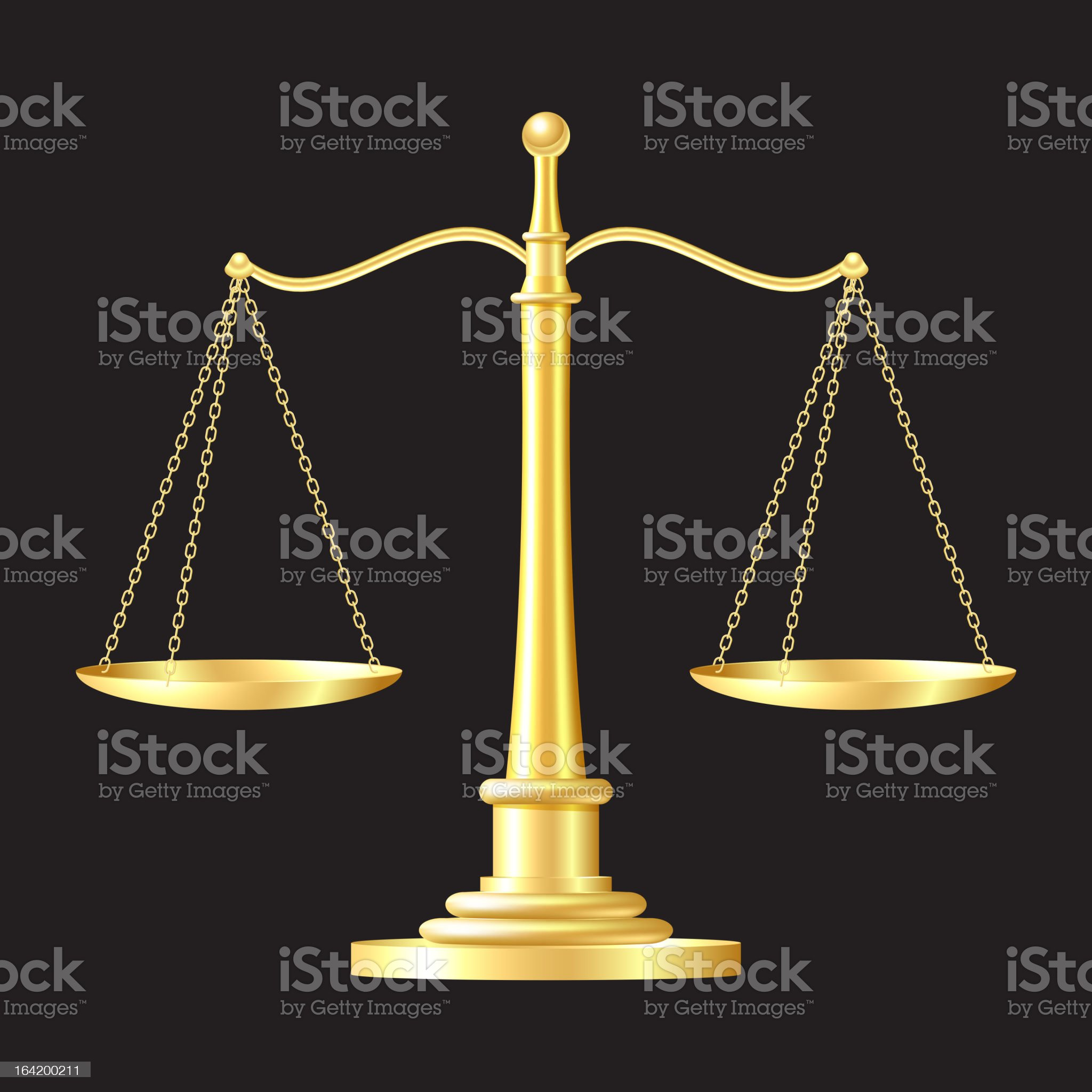 gold scales icon royalty-free stock vector art