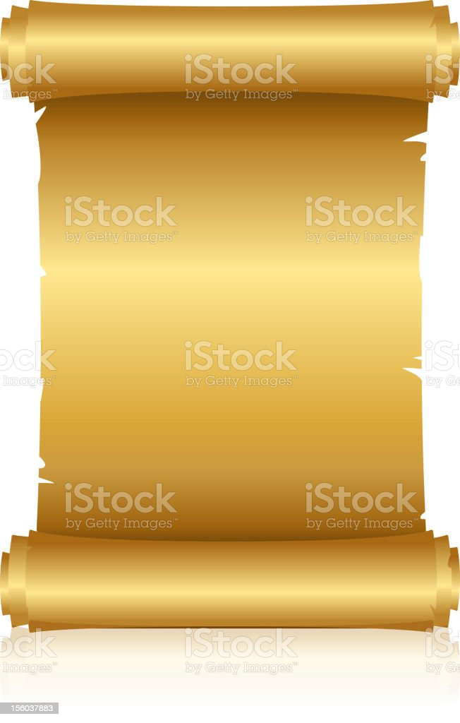 gold scroll royalty-free stock vector art
