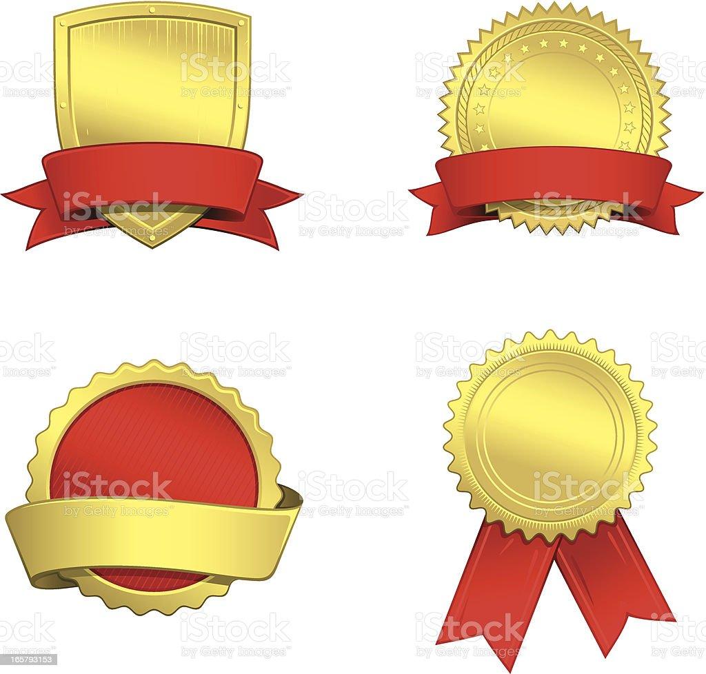 Gold seals royalty-free stock vector art