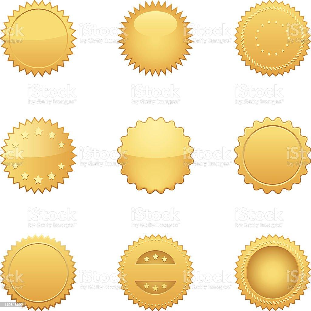 Gold Seals(Vector) vector art illustration