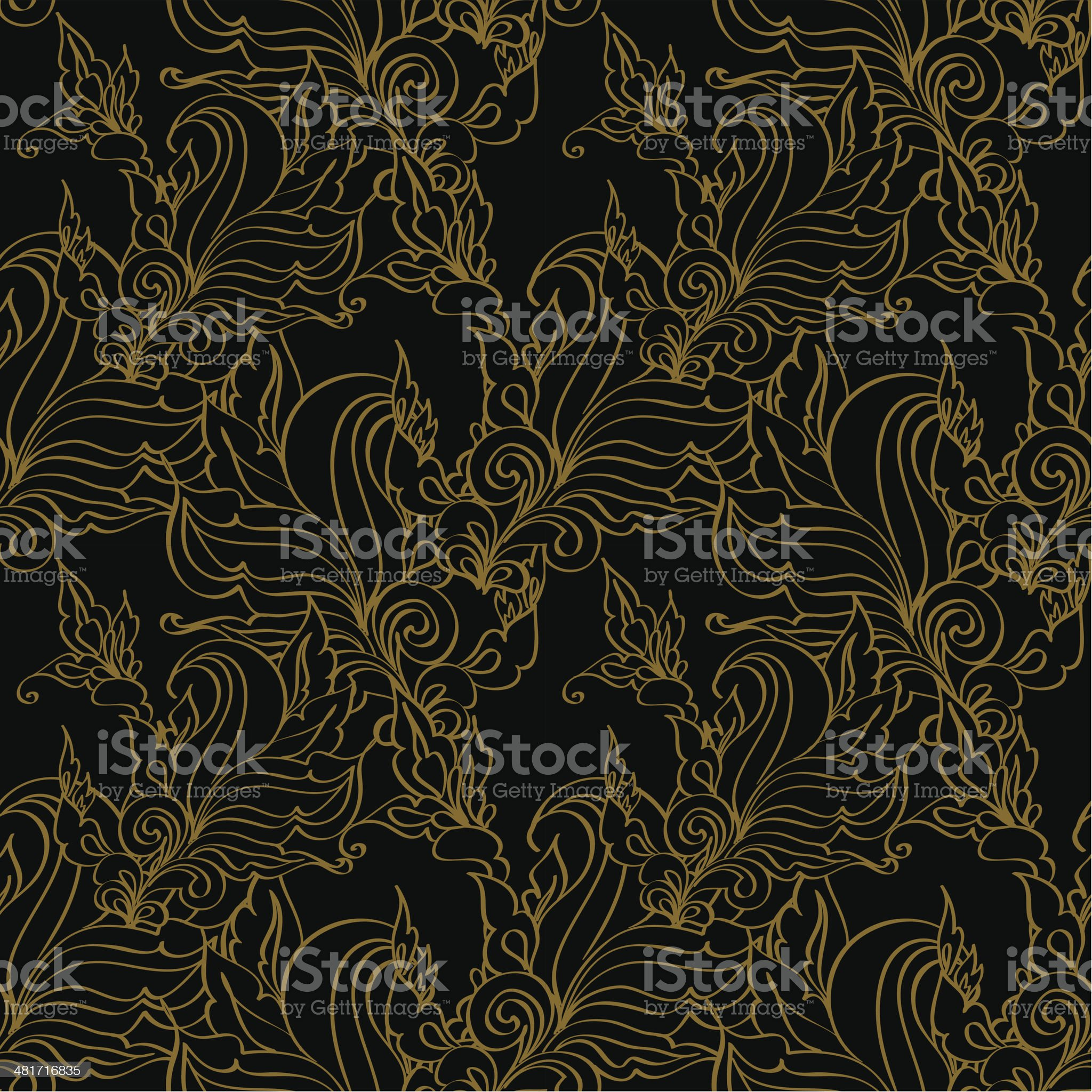 Gold seamless Fashion patterns. royalty-free stock vector art