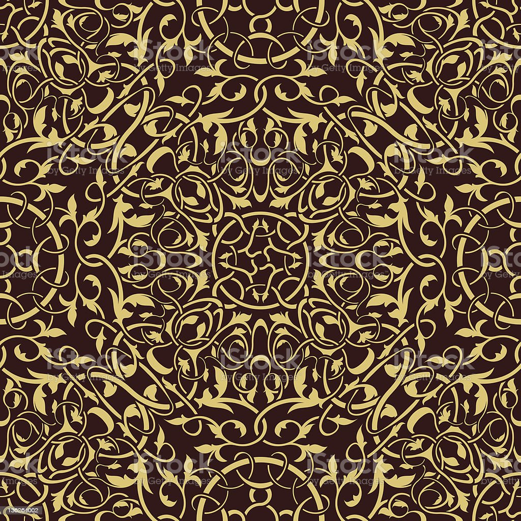 Gold seamless ornament royalty-free stock vector art