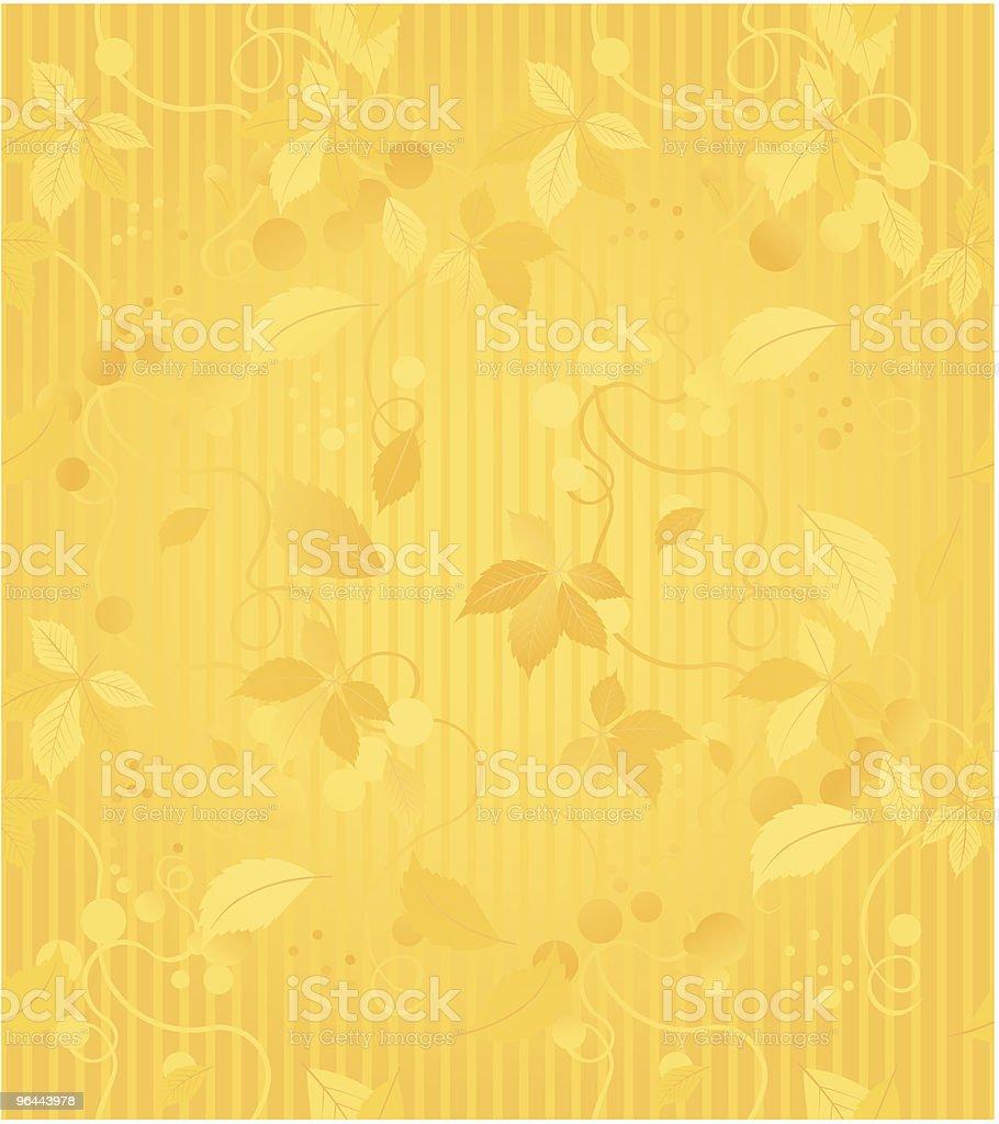 Gold Seamless Wallpaper Pattern royalty-free stock vector art