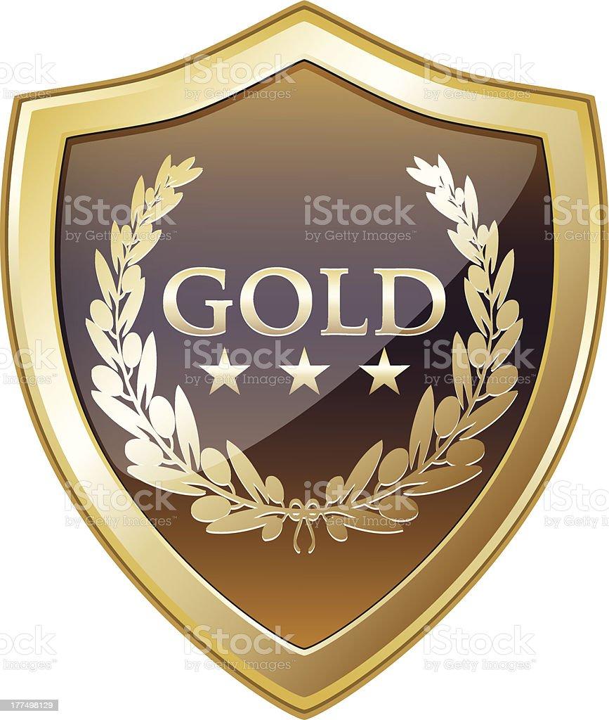 Gold Shield Award royalty-free stock vector art